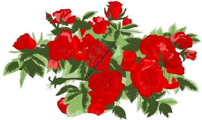 图案 电脑刺绣/牡丹花电脑绣花EMB,DST,格式电脑刺绣花样版。