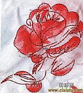 图案 绣花/[下载]牡丹花刺绣图案_单针套印花绣花版下载