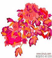 图案 牡丹花/[图案]大红牡丹花图案_牡丹电脑绣花版